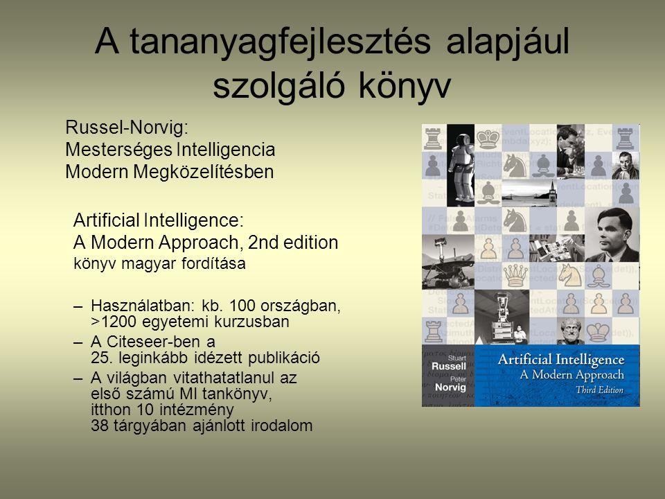 A tananyagfejlesztés alapjául szolgáló könyv Russel-Norvig: Mesterséges Intelligencia Modern Megközelítésben Artificial Intelligence: A Modern Approac