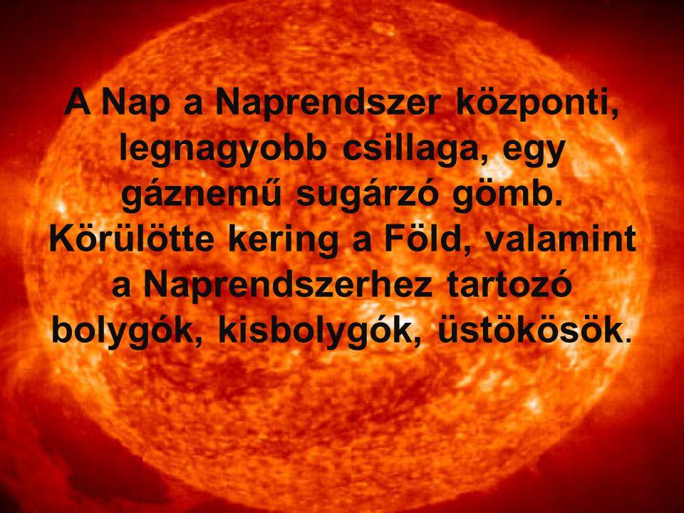 A Nap a Naprendszer központi, legnagyobb csillaga, egy gáznemű sugárzó gömb. Körülötte kering a Föld, valamint a Naprendszerhez tartozó bolygók, kisbo