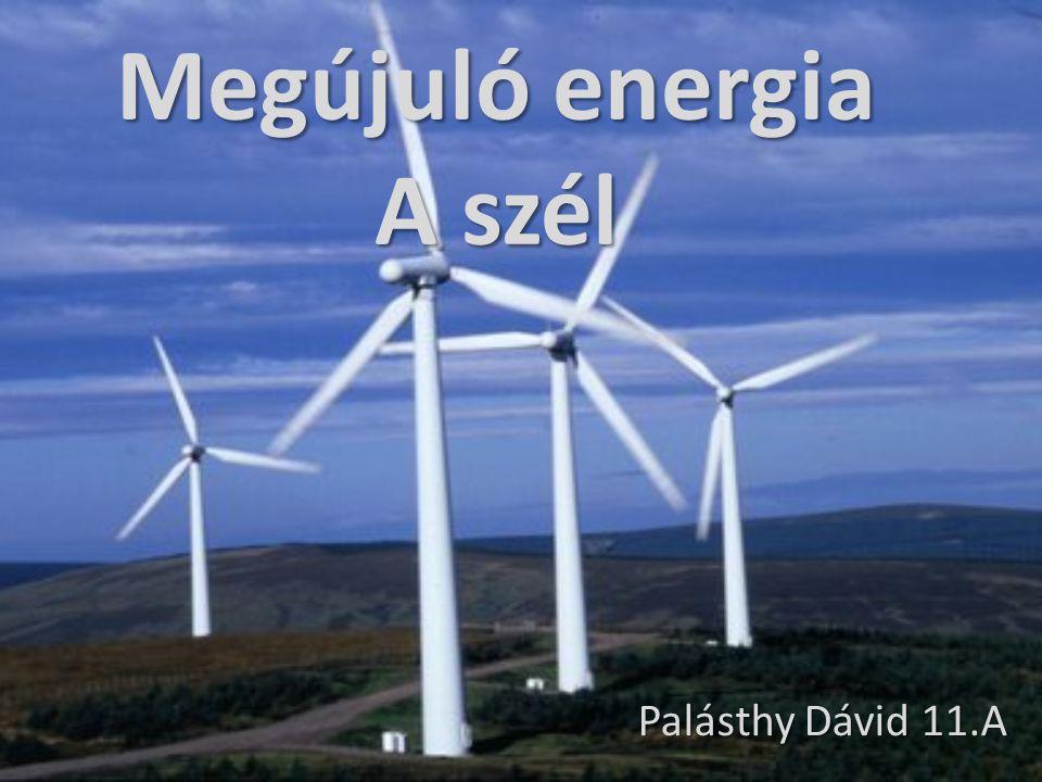 Megújuló energia A szél Palásthy Dávid 11.A