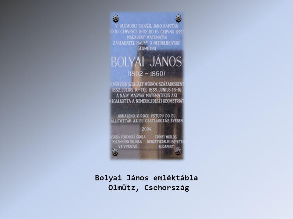Bolyai János emléktábla Olmütz, Csehország