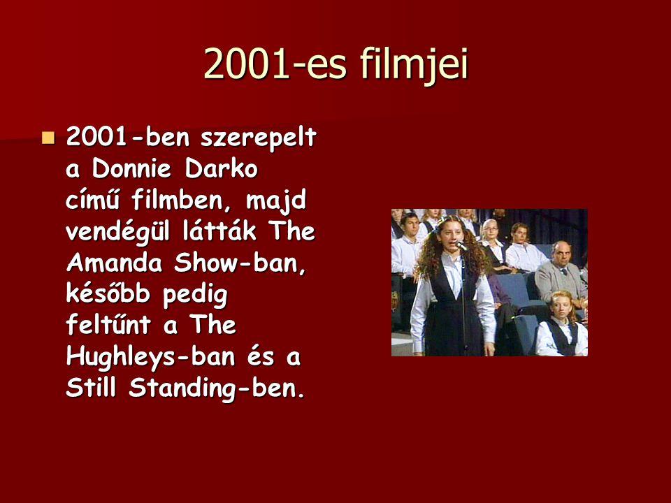 2001-es filmjei 2001-ben szerepelt a Donnie Darko című filmben, majd vendégül látták The Amanda Show-ban, később pedig feltűnt a The Hughleys-ban és a