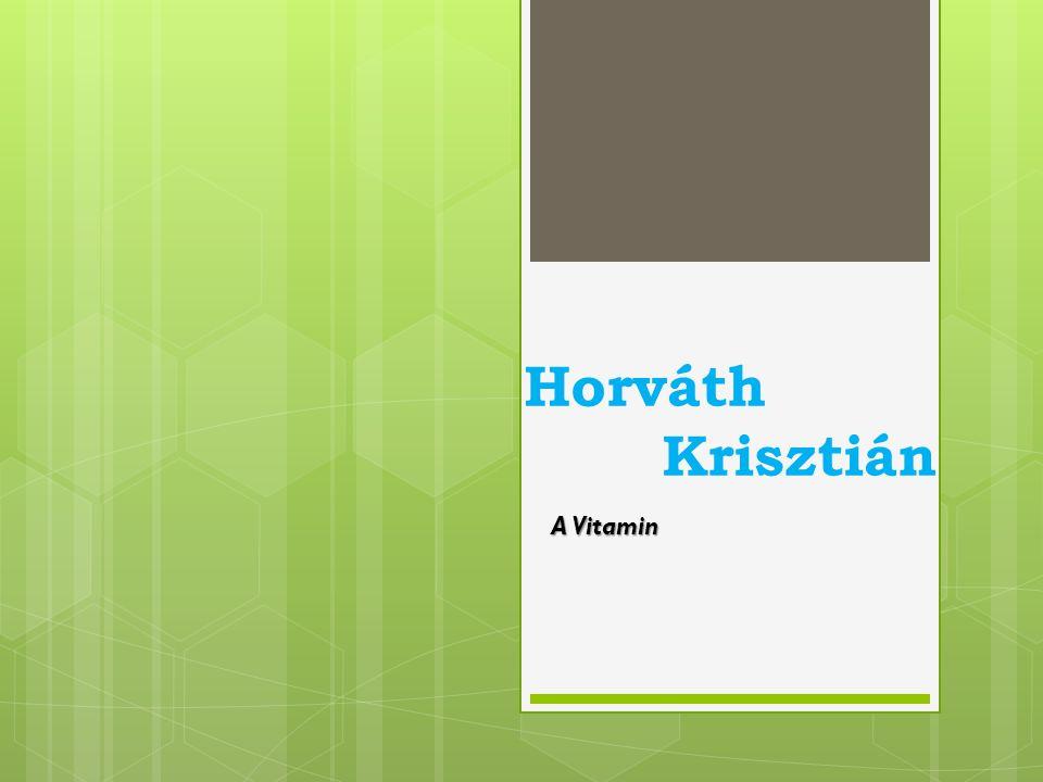 Horváth Krisztián A Vitamin