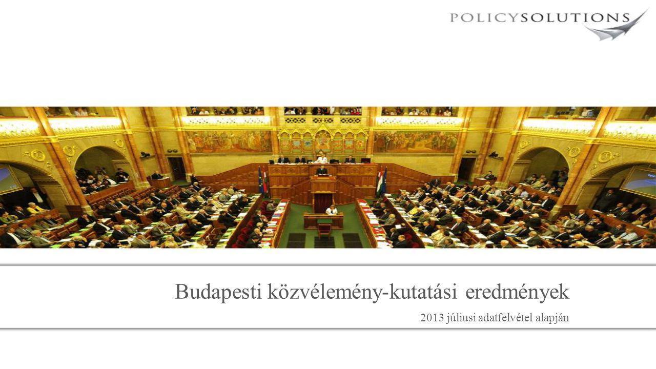 Budapesti közvélemény-kutatási eredmények 2013 júliusi adatfelvétel alapján