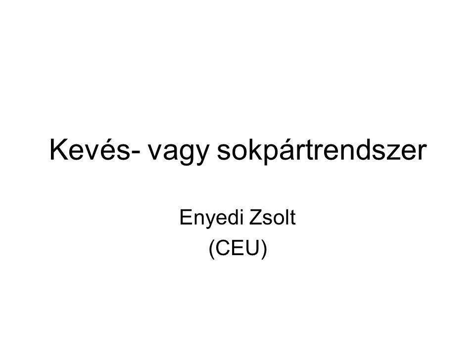 Kevés- vagy sokpártrendszer Enyedi Zsolt (CEU)