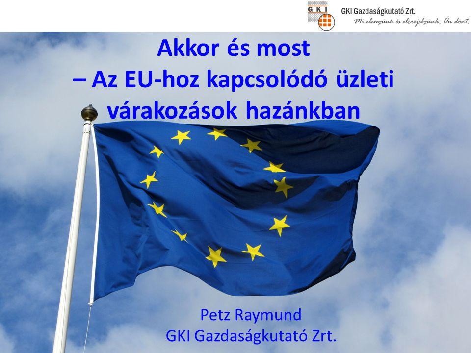 Akkor és most – Az EU-hoz kapcsolódó üzleti várakozások hazánkban Petz Raymund GKI Gazdaságkutató Zrt.