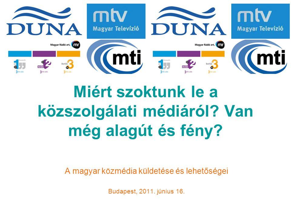 Tovább nyílik az olló az Eu-ban a közszolgálati médiafogyasztásában