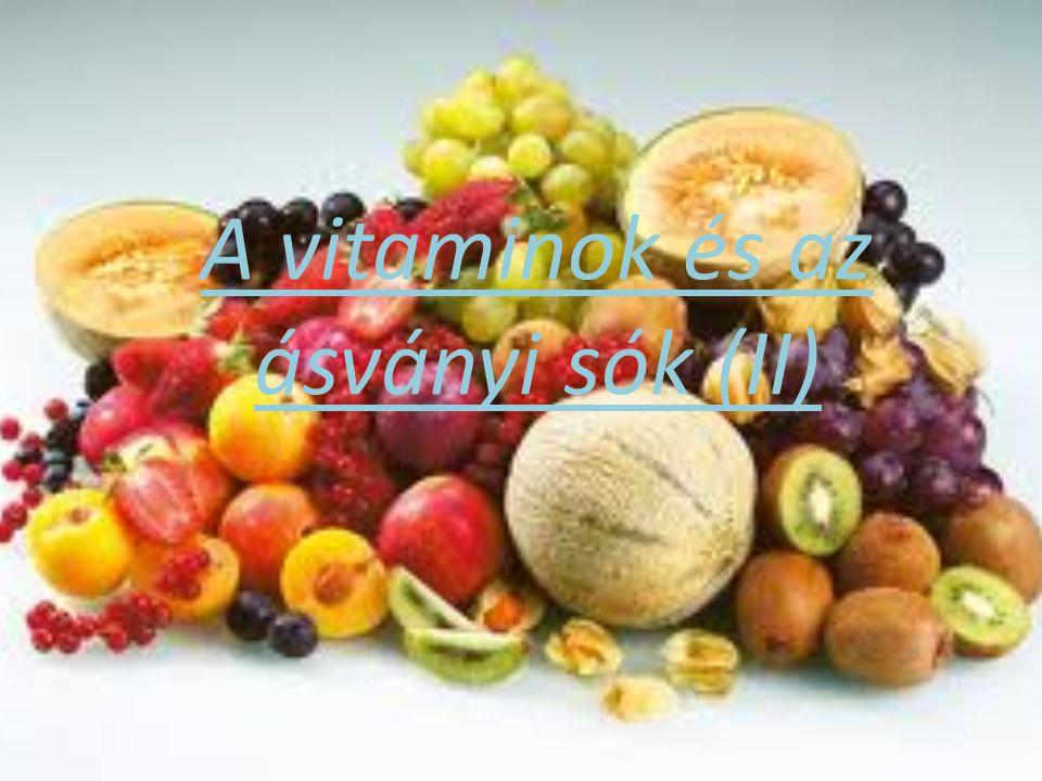 C-vitamin (aszkorbinsav, skorbutellenes vitamin) Első előállítója Szent-Györgyi Albert(1893- 1986),magyar orvos,biokémikus.