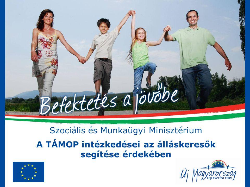 Szociális és Munkaügyi Minisztérium A TÁMOP intézkedései az álláskeresők segítése érdekében