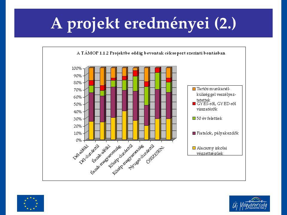 A projekt eredményei (2.)