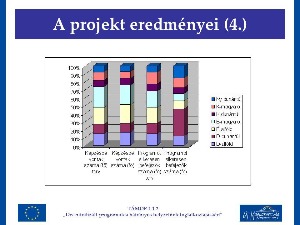 """A projekt eredményei (4.) TÁMOP-1.1.2 """"Decentralizált programok a hátrányos helyzetűek foglalkoztatásáért"""""""