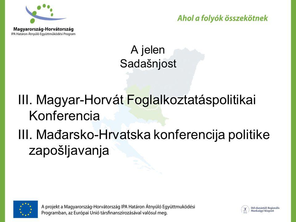 A jelen Sadašnjost III. Magyar-Horvát Foglalkoztatáspolitikai Konferencia III.