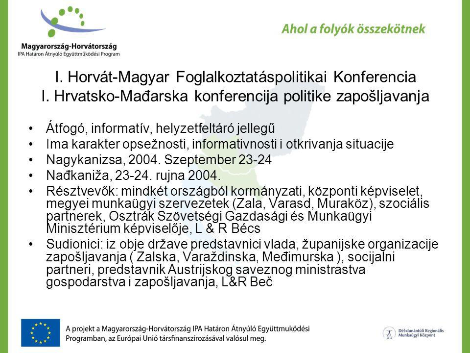 I. Horvát-Magyar Foglalkoztatáspolitikai Konferencia I.
