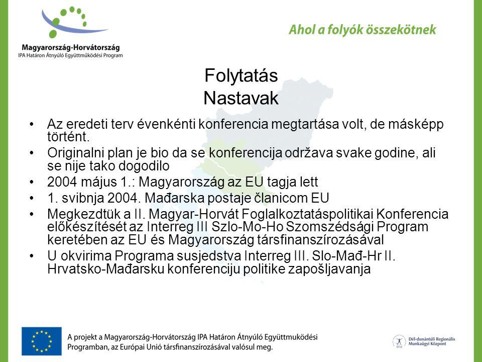 II.Magyar-Horvát Foglalkoztatáspolitikai Konferencia II.