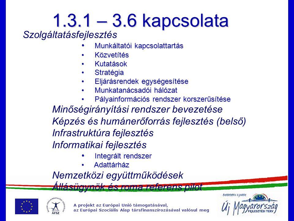 A projekt az Európai Unió támogatásával, az Európai Szociális Alap társfinanszírozásával valósul meg Az NFSZ fejlesztése kiemelt projekt nemzetközi és határ menti együttműködés területén eddig körvonalazódó tevékenységek: Szakértői Akadémiák működtetése Nemzetközi pályázatokon való részvétel, azok támogatása Határmenti információáramlás támogatása – informatikai fejlesztés 2012.