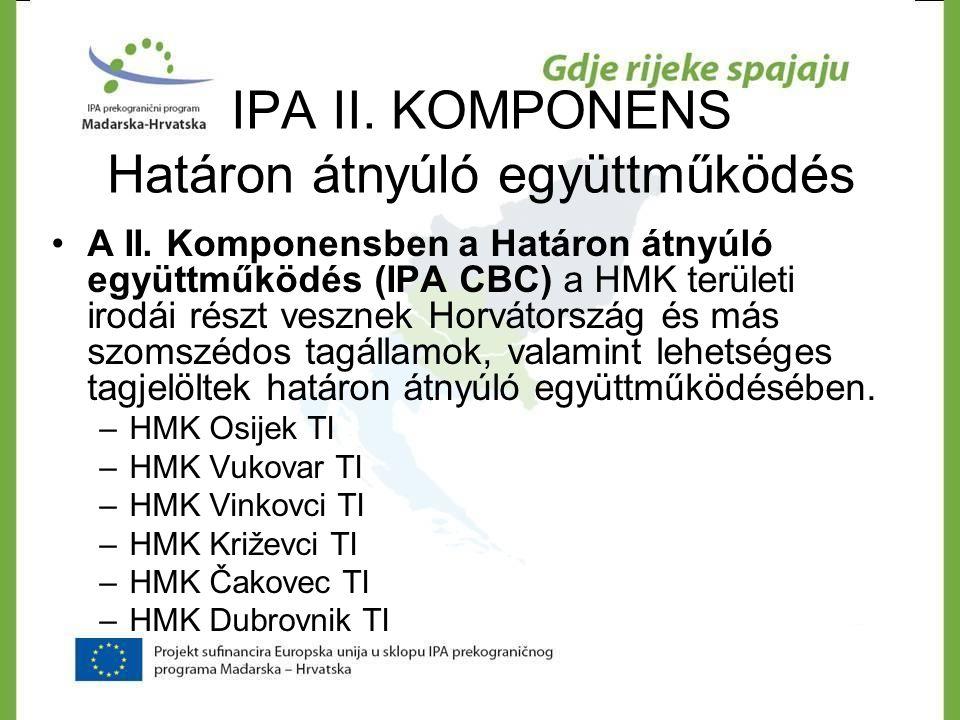 Új pályázati lehetőségek a HMK Eszéki TI részére IPA II.