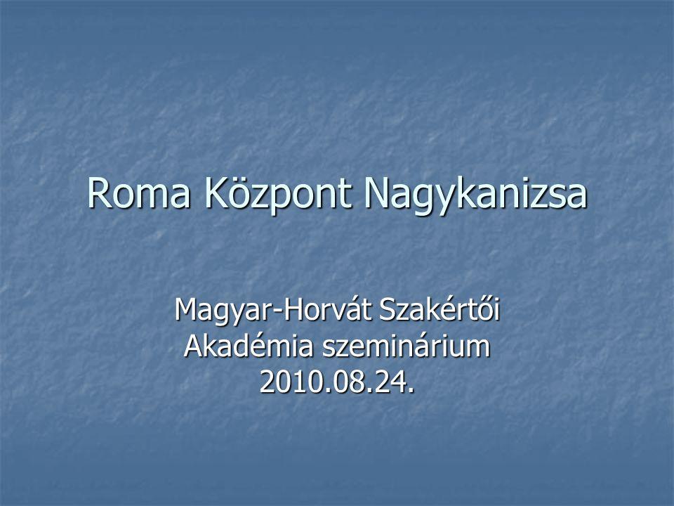 Roma Központ Nagykanizsa Magyar-Horvát Szakértői Akadémia szeminárium 2010.08.24.