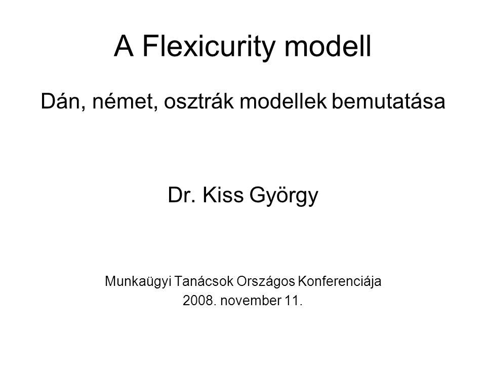 A Flexicurity modell Dán, német, osztrák modellek bemutatása Dr. Kiss György Munkaügyi Tanácsok Országos Konferenciája 2008. november 11.