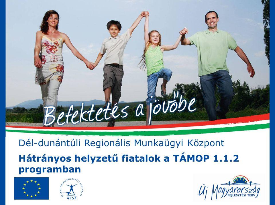 Dél-dunántúli Regionális Munkaügyi Központ Hátrányos helyzetű fiatalok a TÁMOP 1.1.2 programban