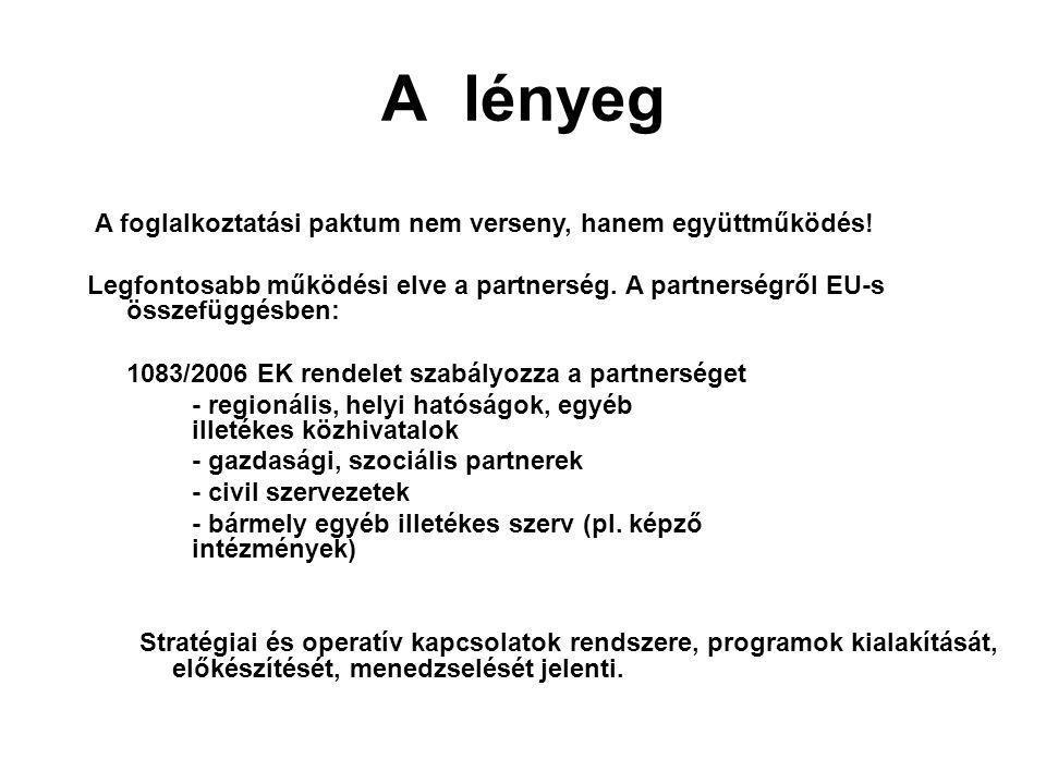 A lényeg A foglalkoztatási paktum nem verseny, hanem együttműködés.