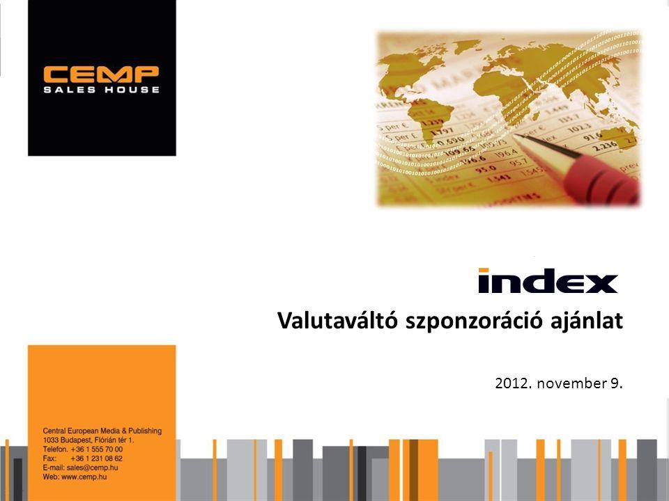Valutaváltó szponzoráció ajánlat 2012. november 9.