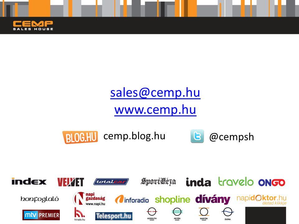 sales@cemp.hu www.cemp.hu @cempsh cemp.blog.hu