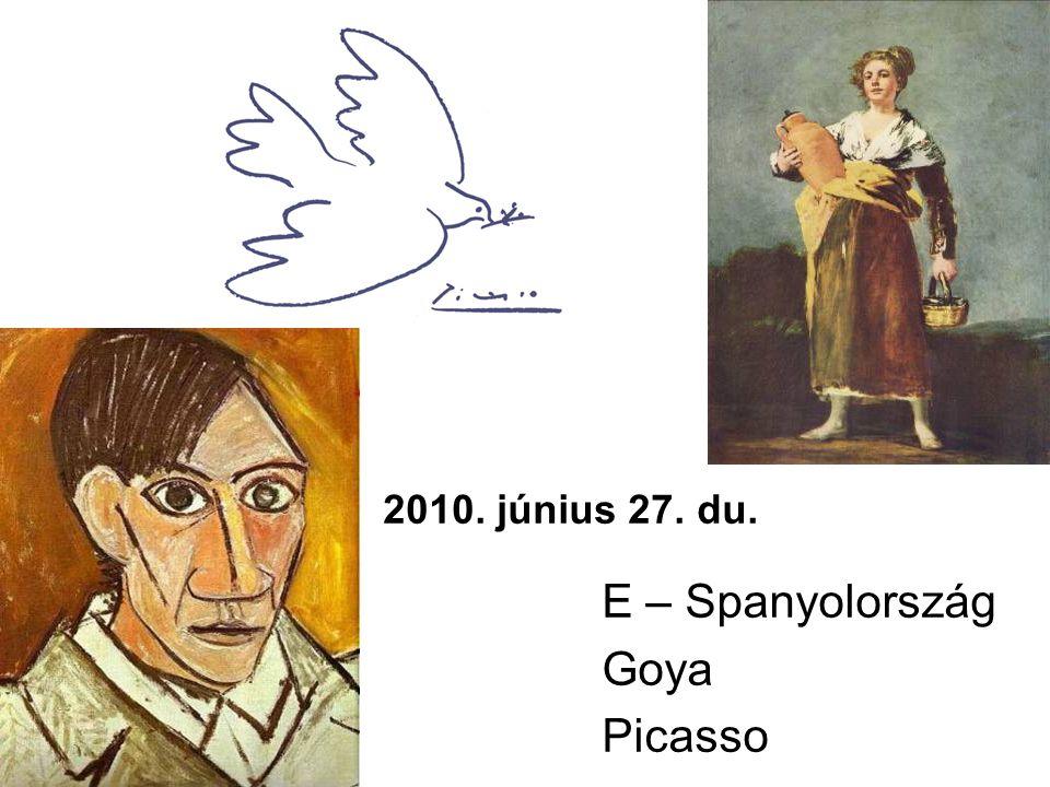 2010. június 27. du. E – Spanyolország Goya Picasso