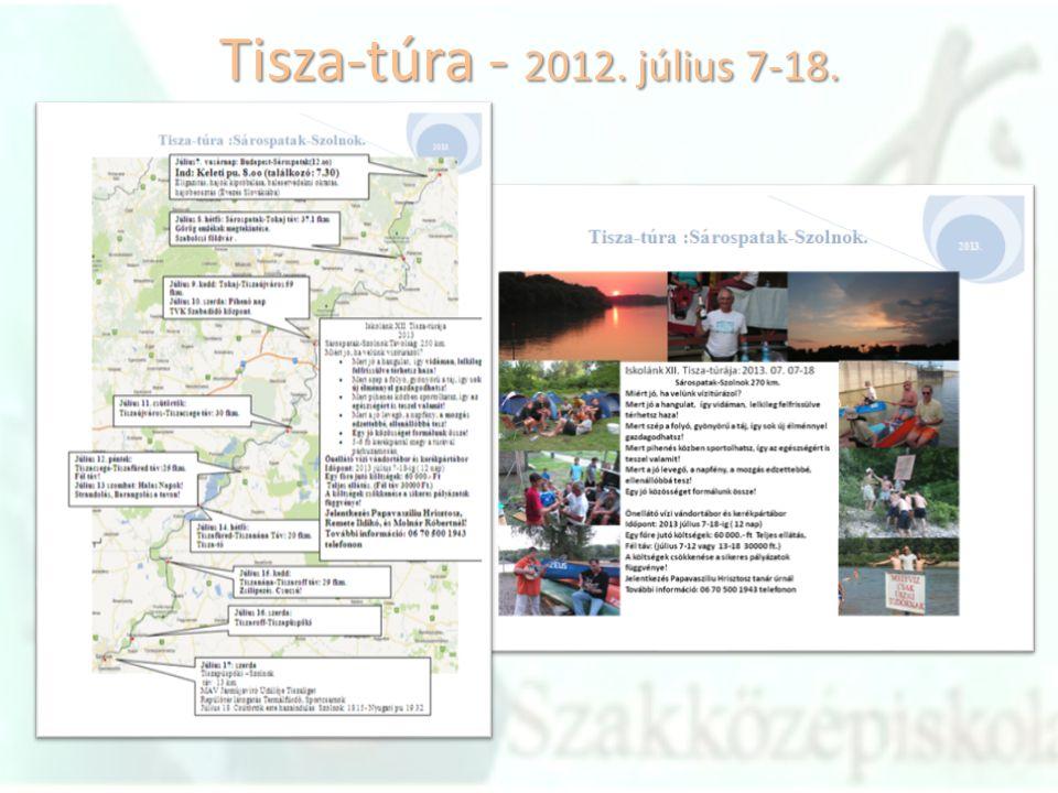 Tisza-túra - 2012. július 7-18.