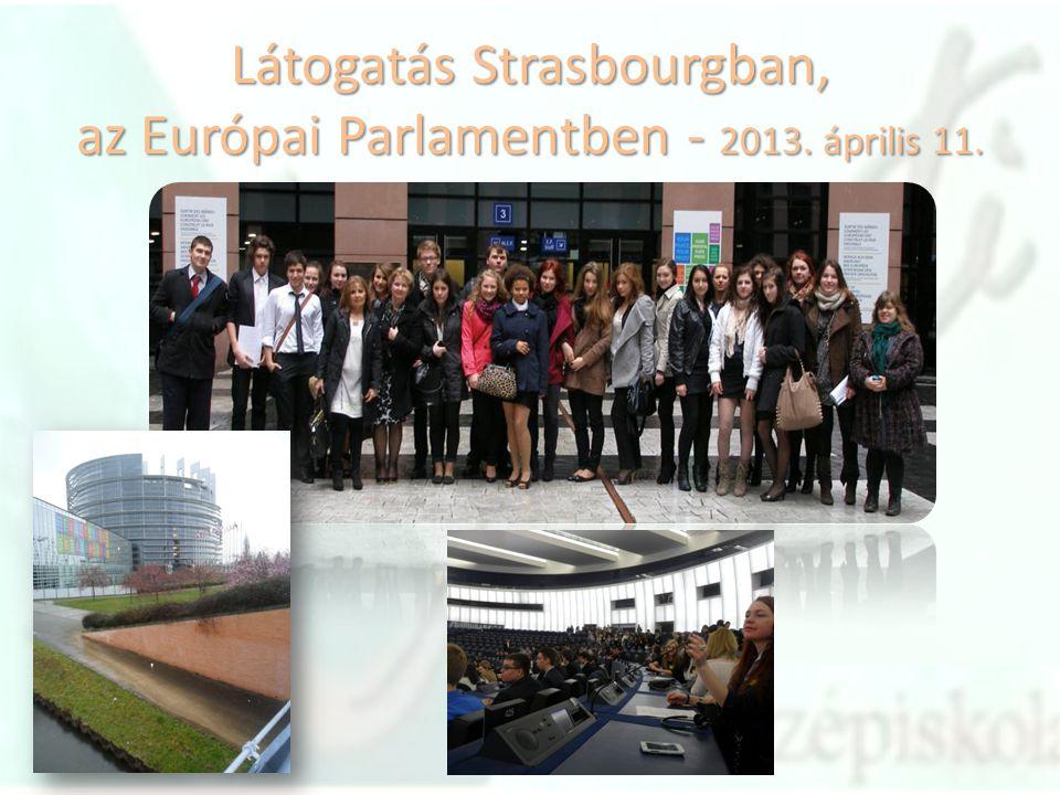 Látogatás Strasbourgban, az Európai Parlamentben - 2013. április 11.