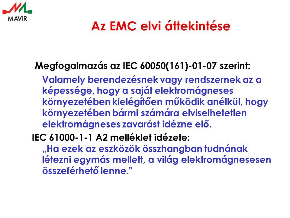 Az EMC elvi áttekintése Megfogalmazás az IEC 60050(161)-01-07 szerint: Valamely berendezésnek vagy rendszernek az a képessége, hogy a saját elektromág