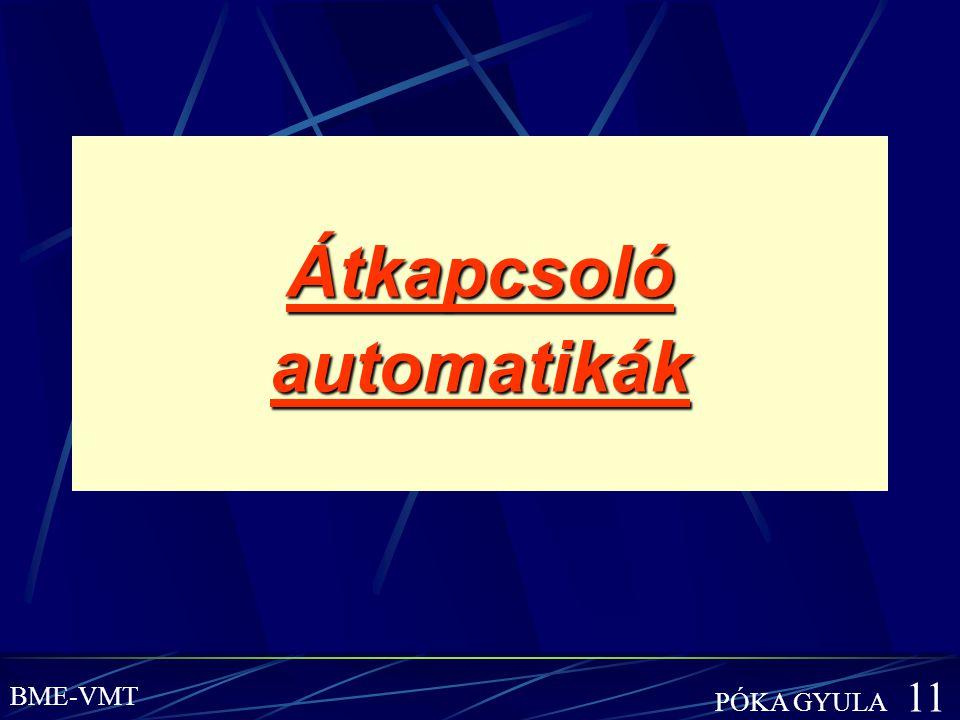 Átkapcsoló automatikák BME-VMT PÓKA GYULA 11