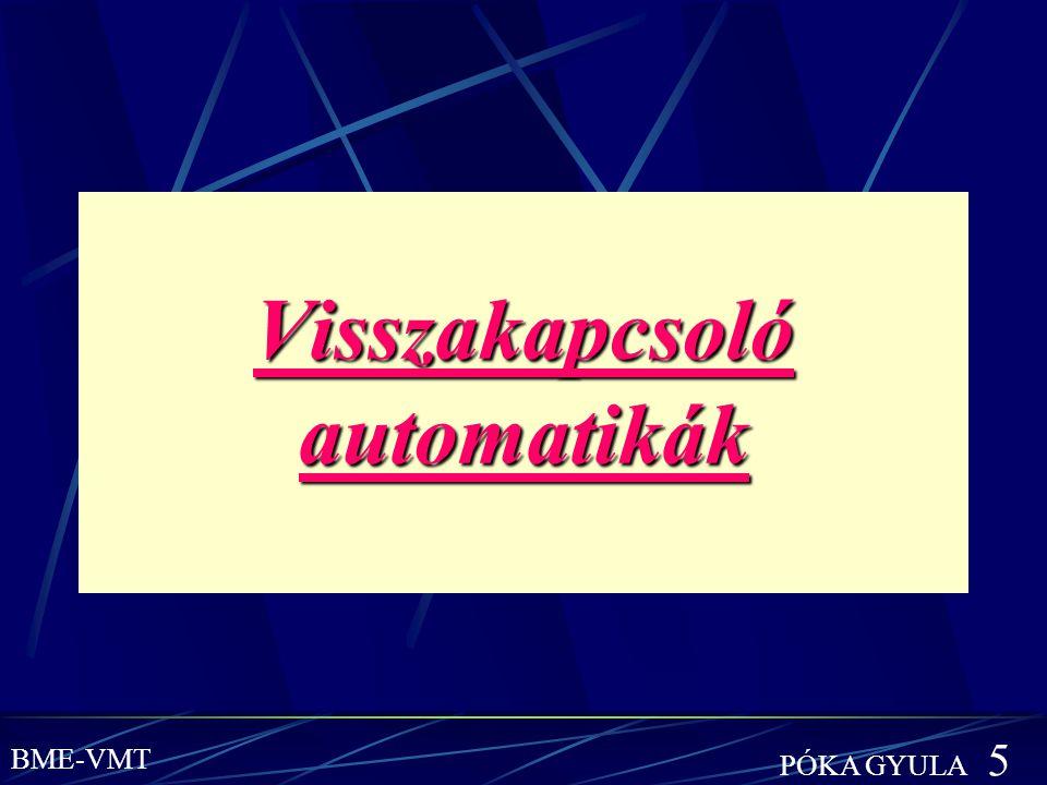 Visszakapcsoló automatikák BME-VMT PÓKA GYULA 5