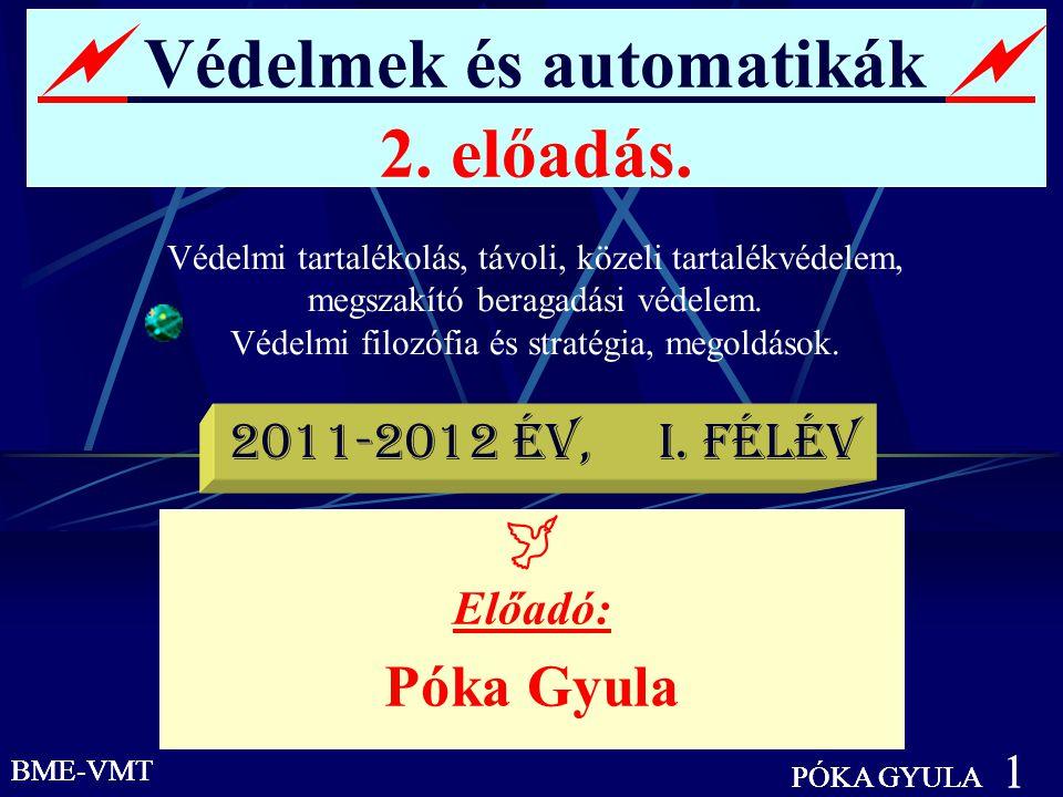 BME-VMT PÓKA GYULA 2 Védelmi tartalékolás.