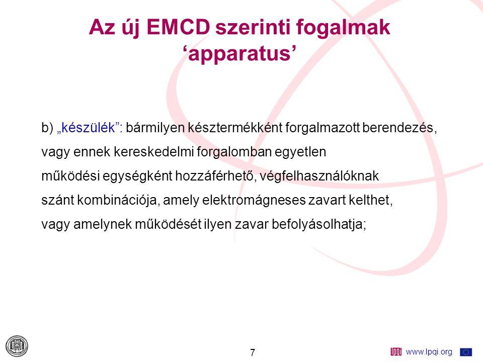 www.lpqi.org 18 Az időbeli EMC tervezés fontossága