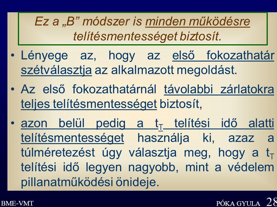 """BME-VMT PÓKA GYULA 28 Ez a """"B módszer is minden működésre telítésmentességet biztosít."""