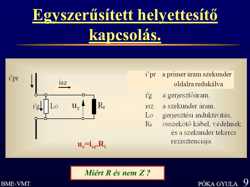 BME-VMT PÓKA GYULA 9 Egyszerűsített helyettesítő kapcsolás.