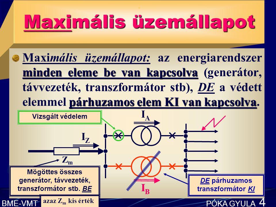 BME-VMT PÓKA GYULA 4 Maximális üzemállapot.