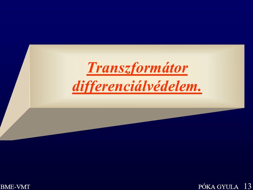PÓKA GYULA 13 BME-VMT Transzformátor differenciálvédelem.