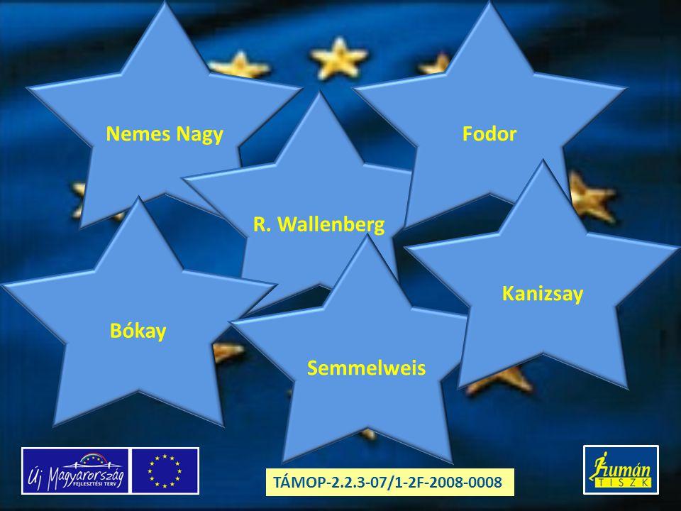 Nemes Nagy R. Wallenberg Bókay Semmelweis Fodor Kanizsay