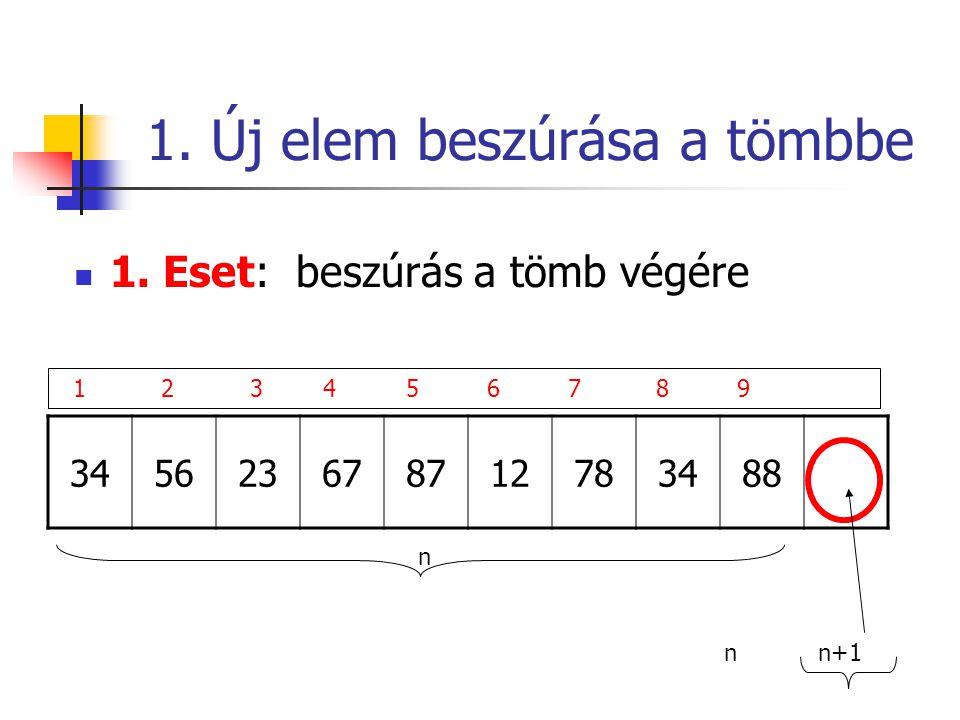1. Új elem beszúrása a tömbbe 1.
