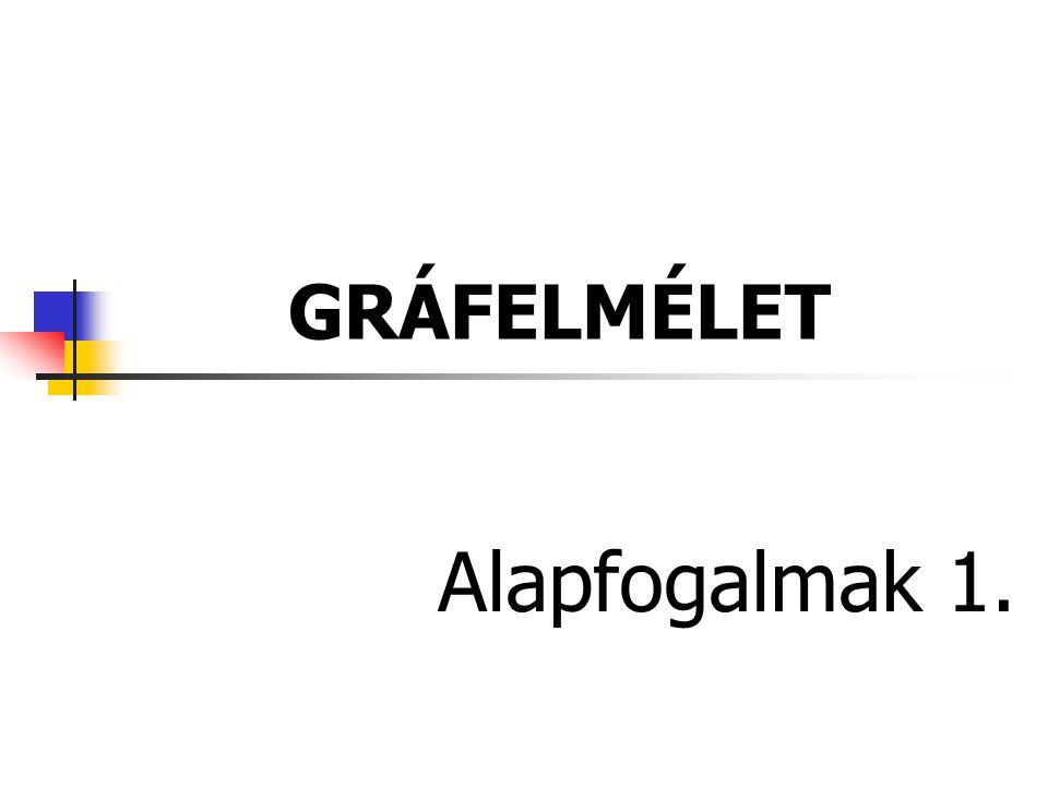 GRÁFELMÉLET Alapfogalmak 1.