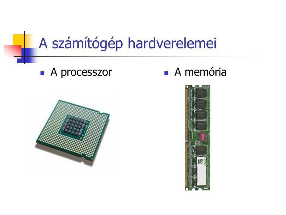 A számítógép hardverelemei A processzor A memória