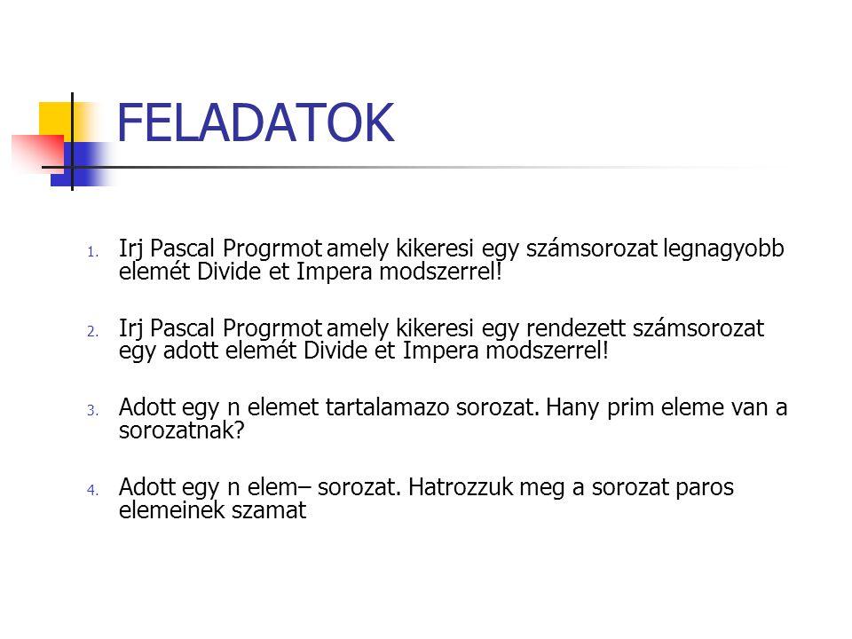 FELADATOK 1.