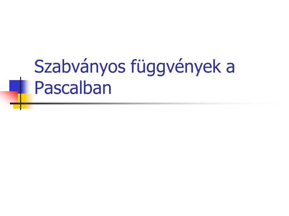 Szabványos függvények a Pascalban