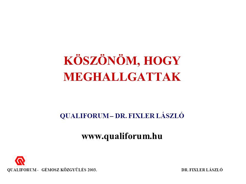 KÖSZÖNÖM, HOGY MEGHALLGATTAK QUALIFORUM – DR.