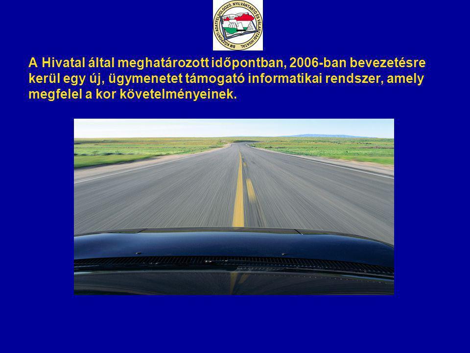 A Hivatal által meghatározott időpontban, 2006-ban bevezetésre kerül egy új, ügymenetet támogató informatikai rendszer, amely megfelel a kor követelmé