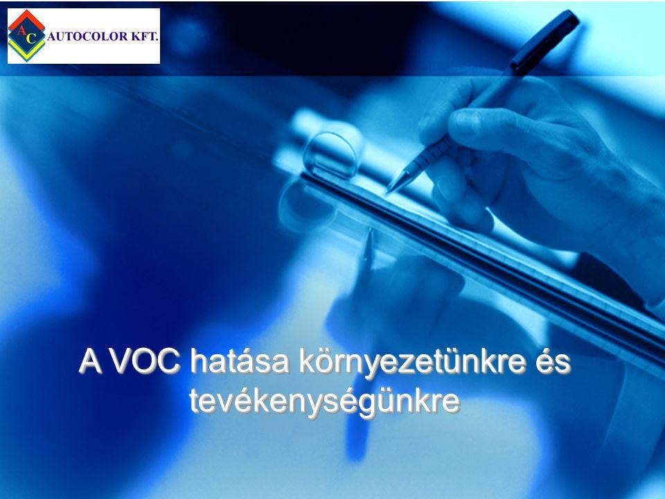 A VOC hatása környezetünkre és tevékenységünkre