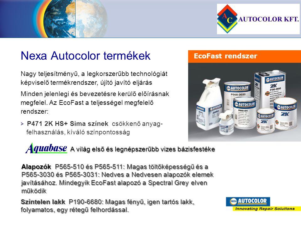 Nexa Autocolor termékek > > P471 2K HS+ Sima színek csökkenő anyag- felhasználás, kíváló színpontosság Nagy teljesítményű, a legkorszerűbb technológiá
