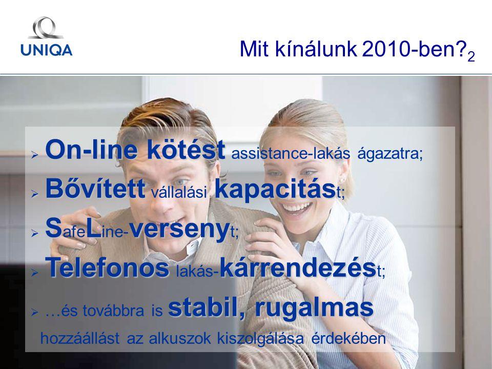 GÉMOSZ Közgyűlés / 2010. május 20. / Ertl Pál 29 On-line kötést  On-line kötést assistance-lakás ágazatra;  Bővítettkapacitás  Bővített vállalási k