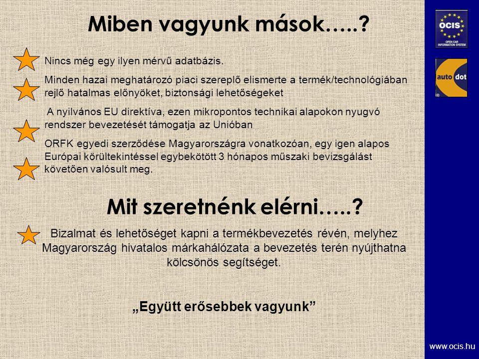 www.ocis.hu Miben vagyunk mások…... Mit szeretnénk elérni…...