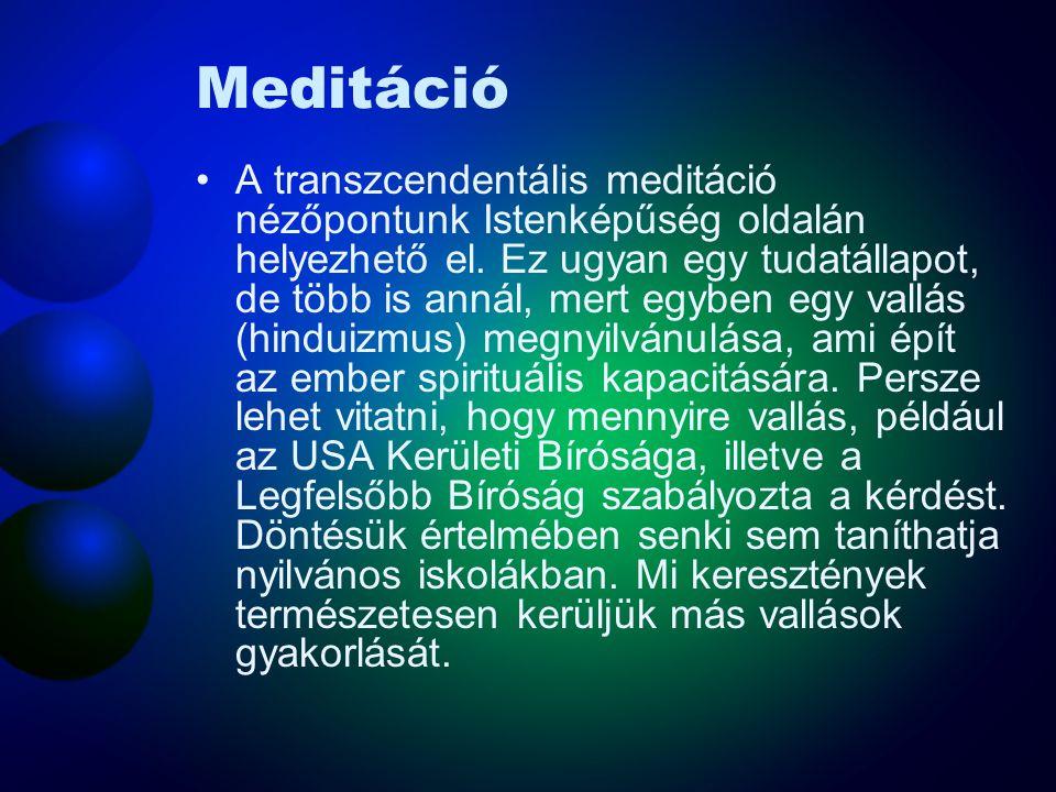 Meditáció Bár az emberek évezredek óta meditálnak, a tudósok számára a XX. század második feléig nem volt különösebben izgató a meditáció tanulmányozá